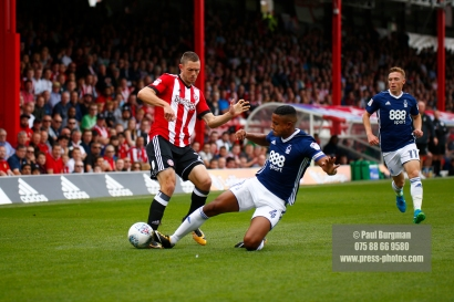 12/08/2017 Brentford v Nottingham Forest at Griffin Park. BrentfordÕs Henrik DALSGAARD