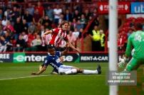 12/08/2017 Brentford v Nottingham Forest at Griffin Park.BrentfordÕs Lasse VIBE shoots