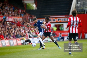 12/08/2017 Brentford v Nottingham Forest at Griffin Park. BrentfordÕs Romaine SAWYERS