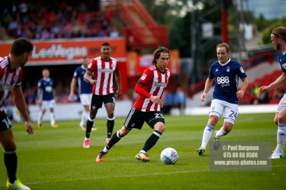 12/08/2017 Brentford v Nottingham Forest at Griffin Park. BrentfordÕs JOTA