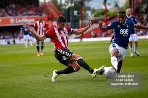 12/08/2017 Brentford v Nottingham Forest at Griffin Park. BrentfordÕs John EGAN