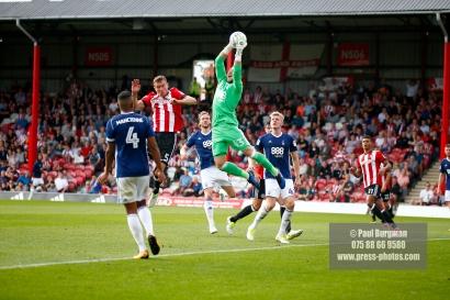 12/08/2017 Brentford v Nottingham Forest at Griffin Park. BrentfordÕs Andreas BJELLAND
