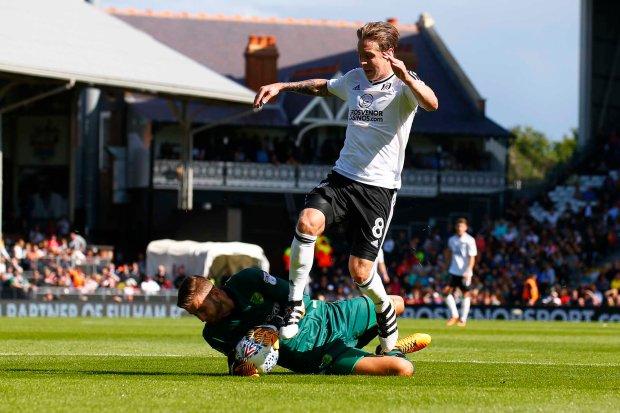 05/08/2017 Fulham FC v Norwich FC. Fulham's Stefan JOHANSEN