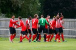 2008/2017 Guildford City FC v Camberley Town. FA Cup. City 4-0 Winners. City's Dan STEWART scores City's second goal