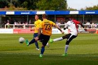 28/08/2017Woking FC v Torquay United. Woking's Bobson BAWLING scores Woking's Fourth Goal