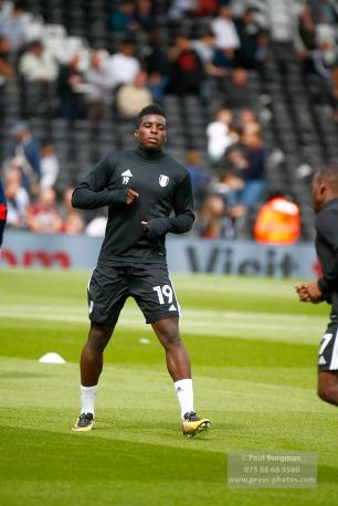 19/08/2017 Fulham v Sheffield Wednesday. New Signing On the Bench today Fulham's Sheyi OJO