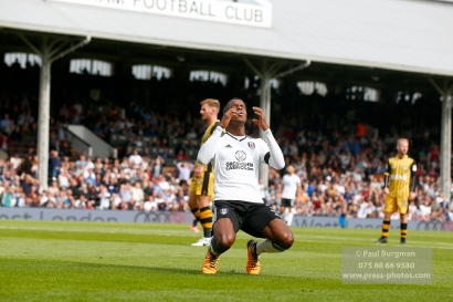 19/08/2017 Fulham v Sheffield Wednesday. Fulham's Ryan SESSEGNON shoots wide