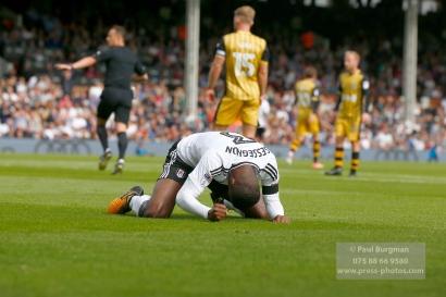 19/08/2017 Fulham v Sheffield Wednesday. Fulham's Ryan SESSEGNON shoots wide
