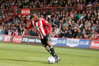 16/09/2017. Brentford FC v Reading FC. Action from SkyBet Championship Match at Griffin Park. Brentford's Florian Jozefzoon