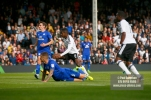 09/09/2017. Fulham v Cardiff City. Sky Bet Championship League Action. Fulham's Ryan SESSEGNON scores