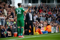 14/10/2017. Fulham v Preston North End. Action from the Sky Bet Championship. Fulham FC Manager Slavisa JOKANOVIC