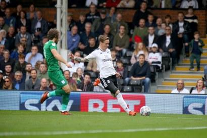 14/10/2017. Fulham v Preston North End. Action from the Sky Bet Championship. FulhamÕs Stefan JOHANSEN