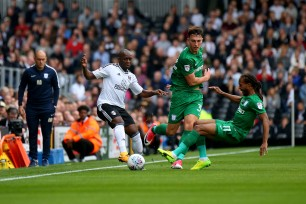 14/10/2017. Fulham v Preston North End. Action from the Sky Bet Championship. FulhamÕs Neeskens KEBANO