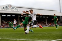 14/10/2017. Fulham v Preston North End. Action from the Sky Bet Championship. FulhamÕs Stefan JOHANSEN
