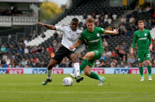 14/10/2017. Fulham v Preston North End. Action from the Sky Bet Championship. FulhamÕs Floyd AYITE