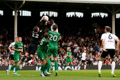 14/10/2017. Fulham v Preston North End. Action from the Sky Bet Championship.