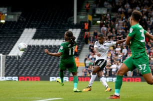 14/10/2017. Fulham v Preston North End. Action from the Sky Bet Championship. FulhamÕs Ryan SESSEGNON