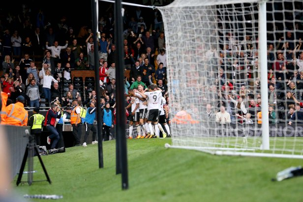 14/10/2017. Fulham v Preston North End. Action from the Sky Bet Championship. FulhamÕs Denis ODOI celebrates equaliser