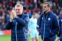 21/10/2017. Brentford v AFC Sunderland. Action from the Sky Bet Championship. Brentford's Manager Dean SMITH