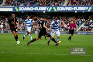 28/10/2017. Queens Park Rangers v Wolverhampton Wanderers. Match action from the Sky Bet Championship. QPRÕs Conor WASHINGTON