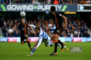 28/10/2017. Queens Park Rangers v Wolverhampton Wanderers. Match action from the Sky Bet Championship. QPRÕs Luke FREEMAN