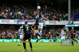28/10/2017. Queens Park Rangers v Wolverhampton Wanderers. Match action from the Sky Bet Championship. QPRÕs Matt SMITH