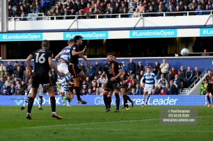 28/10/2017. Queens Park Rangers v Wolverhampton Wanderers. Match action from the Sky Bet Championship. QPRÕs Matt SMITH scores