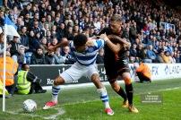 28/10/2017. Queens Park Rangers v Wolverhampton Wanderers. Match action from the Sky Bet Championship. QPRÕs Darnell FURLONG