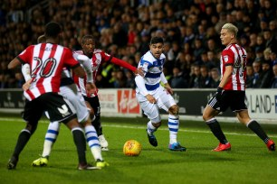 27/11/2017. QPR v Brentford. Action from the SkyBet Championship.