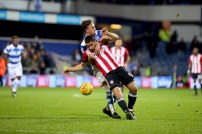 27/11/2017. QPR v Brentford. Action from the SkyBet Championship. Brentford's Neal MAUPAY
