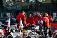 12/11/2017. Remembrance Day Ring of Red. Motorcyclist Assemble at Cobham Services.
