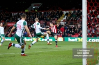 16/12/2017. Brentford FC v Barnsley FC. SkyBet Championship Football Action from Griffin Park Brentford's Sergi CANOS shoots wide