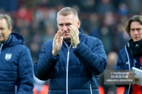 02/12/2017 Brentford v Fulham Action from the SkyBet Championship. Brentford's Manager Dean SMITH