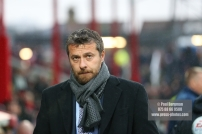 02/12/2017 Brentford v Fulham Action from the SkyBet Championship. Fulham FC Manager Slavisa JOKANOVIC