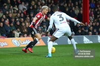 02/12/2017 Brentford v Fulham Action from the SkyBet Championship. Brentford's Sergi CANOS