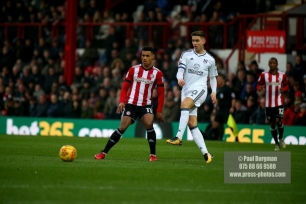 02/12/2017 Brentford v Fulham Action from the SkyBet Championship. FulhamÕs Tom CAIRNEY & Brentford's Ollie WATKINS