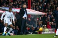 02/12/2017 Brentford v Fulham Action from the SkyBet Championship. Fulham FC Manager Slavisa JOKANOVIC