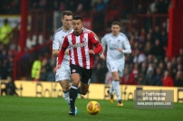 02/12/2017 Brentford v Fulham Action from the SkyBet Championship. Brentford's Nico YENNARIS