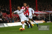 02/12/2017 Brentford v Fulham Action from the SkyBet Championship. FulhamÕs Denis ODOI & Brentford's Nico YENNARIS