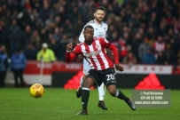 02/12/2017 Brentford v Fulham Action from the SkyBet Championship. Brentford's Josh CLARKE