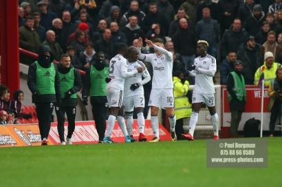 02/12/2017 Brentford v Fulham Action from the SkyBet Championship. FulhamÕs Neeskens KEBANO celebrates