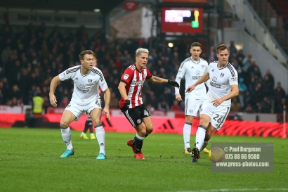 02/12/2017 Brentford v Fulham Action from the SkyBet Championship. Brentford's Sergi CANOS battles with FulhamÕs Tomas KALAS