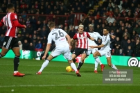 02/12/2017 Brentford v Fulham Action from the SkyBet Championship. Brentford's Sergi CANOS scores