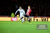 02/12/2017 Brentford v Fulham Action from the SkyBet Championship. Brentford's Ryan WOODS & FulhamÕs Tom CAIRNEY