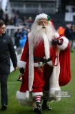 23/12/2017. Fulham v Barnsley. Action from the SkyBet Championship at Craven Cottage. Santa Claus paid a visit