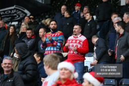 23/12/2017. Fulham v Barnsley. Action from the SkyBet Championship at Craven Cottage. Christmas Jumpers
