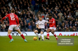 23/12/2017. Fulham v Barnsley. Action from the SkyBet Championship at Craven Cottage. FulhamÕs Tomas KALAS