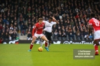 23/12/2017. Fulham v Barnsley. Action from the SkyBet Championship at Craven Cottage. FulhamÕs Floyd AYITE battles
