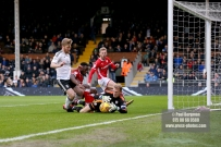 23/12/2017. Fulham v Barnsley. Action from the SkyBet Championship at Craven Cottage. FulhamÕs Tomas KALAS has early chance