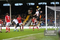23/12/2017. Fulham v Barnsley. Action from the SkyBet Championship at Craven Cottage. FulhamÕs Tim REAM